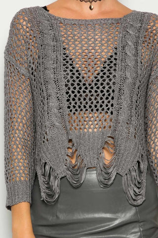 Coya Crochet Knit Top - Deevasden.com