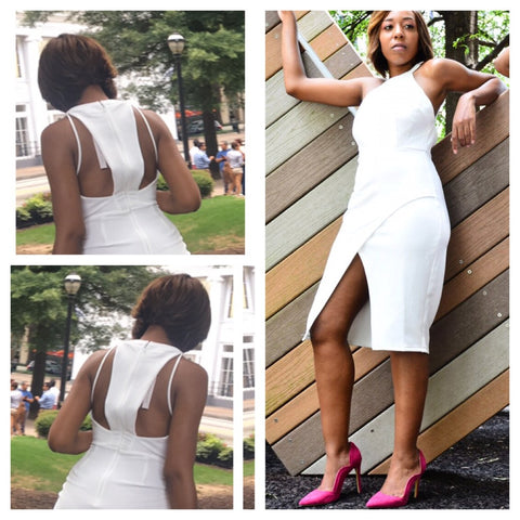 All White Affair Stappy Summer Dress - Deevasden.com