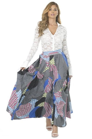 Hip-Hop Maxi Skirt