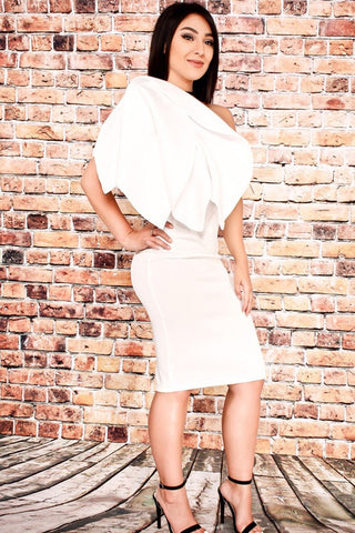 White Affair Elegant Pencil Dress - Deevasden.com