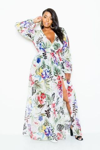 Plus Size Paradise Maxi Dress - Deevasden.com