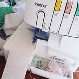 Serging ruffles for diaper covers!