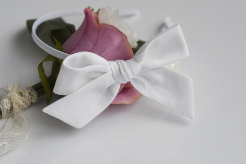 Classic Bows on Satin Headband