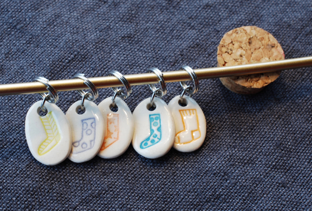 Candy Color Oval Sock Stitch Markers