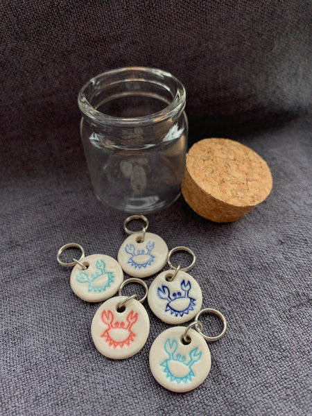 Crab Stitch Markers
