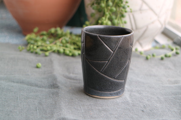 Geometric Black Whiskey Cup