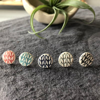 Knit stitch earring - post
