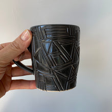 More geometric dark mug