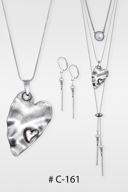 Collier  Court # C-161 (3 en 1) coeur