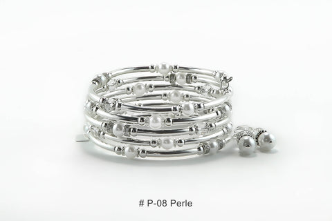 Bracelet Serpentin  # P-08 perles 6mm