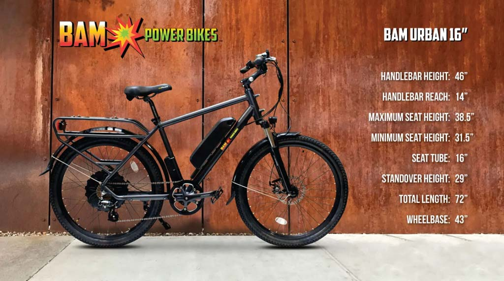 BAM-Power-Bikes-Urban-Electric-Bike-Dimensions-16inch