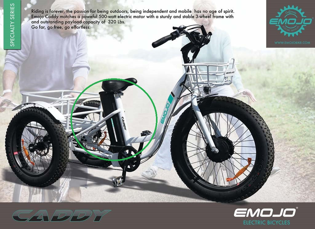 EXTRA BATTERY for EMOJO Caddy Electric Trike