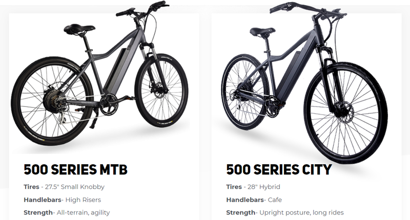 Ride1UP-Series-500-Electric-Bike-Differences
