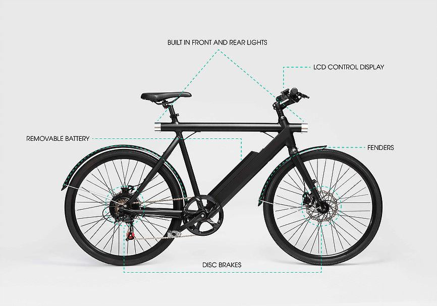 Wing Bikes Freedom electric bike diagram
