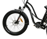 AmericanElectric STELLAR Electric Bike Step Through Black front tire left_2a45b230 c8ab 4613 a3a3 9e40a5dea5a8