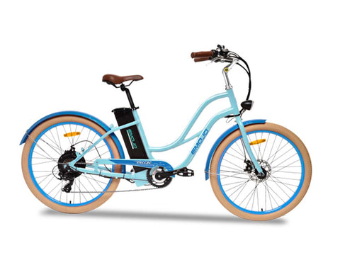 "EMOJO Breeze 36V 500W 26"" Cruiser Electric Bike - Electric Bike Zone"