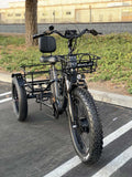 EMOJO Caddy PRO Trike Electric Fat Tire Tricycle Gray Front