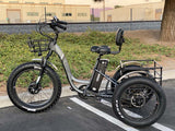 EMOJO Caddy PRO Trike Electric Fat Tire Tricycle Gray Left