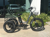 EMOJO Caddy PRO Trike Electric Fat Tire Tricycle Gray Outside