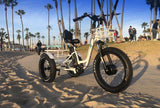 EMOJO Caddy PRO Trike Electric Fat Tire Tricycle beach trail