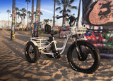 EMOJO Caddy PRO Trike Electric Fat Tire Tricycle sand