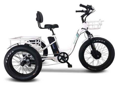 EMOJO Caddy PRO Trike - Electric Fat Tire Tricycle - Electric Bike Zone