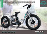 EMOJO Caddy Trike Electric Fat Tire Tricycle flyer