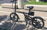 EMOJO City Trek 300W Folding Electric Bike outside