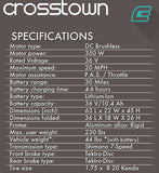 EMOJO Crosstown Electric Bike Specs