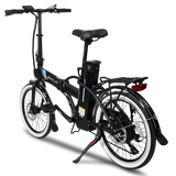 EMOJO Crosstown Folding Electric Bike black rear