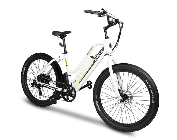 EMOJO Panther 500W Step Thru electric bike white