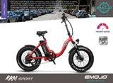 EMOJO RAM Sport Folding Low Step Fat Tire Electric Bike Flyer