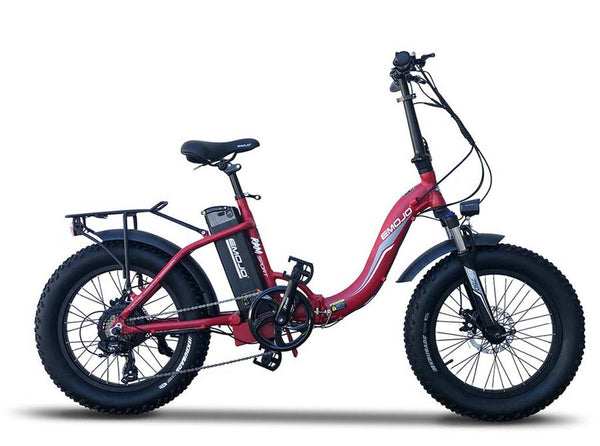 EMOJO RAM Sport Folding Low Step Fat Tire Electric Bike Red