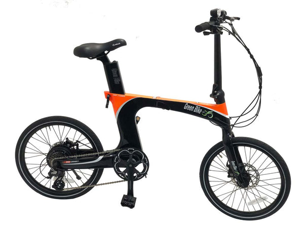 Green Bike USA Carbon Lightweight Electric Bike black orange_5c66aef1 da9c 4e59 b651 75ca0e1ebe0a