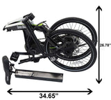 Green Bike USA Carbon Lightweight Electric Bike folded dimensions