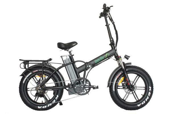 Green Bike USA GB1 750 MAG Fat Tire Folding Electric Bike Black