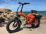 Green Bike USA GB500 Fat Tire Folding Electric Bike Beach Rocks