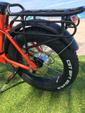 Green Bike USA GB500 Fat Tire Folding Electric Bike Orange Rear Tire