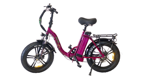 Green Bike USA GB750 Fat Tire Low Step - Folding Electric Bike - Electric Bike Zone