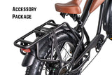 Revi Bikes Civi Bikes Cheetah Cafe Racer Electric Bike Accessory Package Rear Rack Light