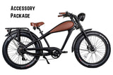 Revi Bikes Civi Bikes Cheetah Cafe Racer Electric Bike Accessory Package with Accessory Package
