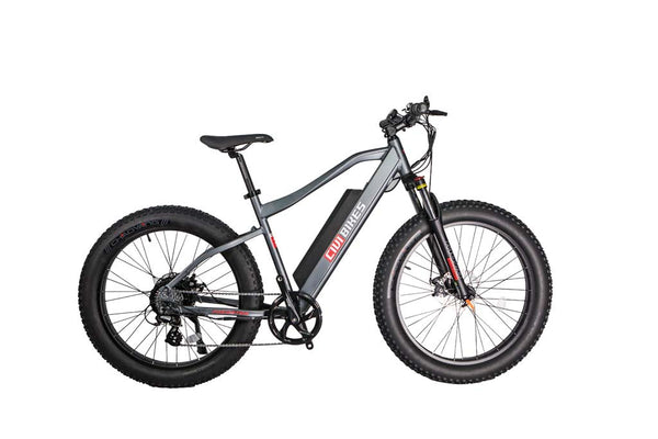 Revi Bikes Civi Bikes Predator Electric Mountain Bike Platinum Gray