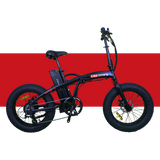 Revi Bikes Civi Bikes Rebel Folding Electric Bike Matte Black Red