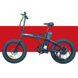 Revi Bikes Civi Bikes Rebel Folding Electric Bike Matte Black red left