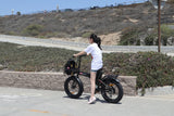 Revi Bikes Civi Bikes Rebel Folding Electric Bike girl