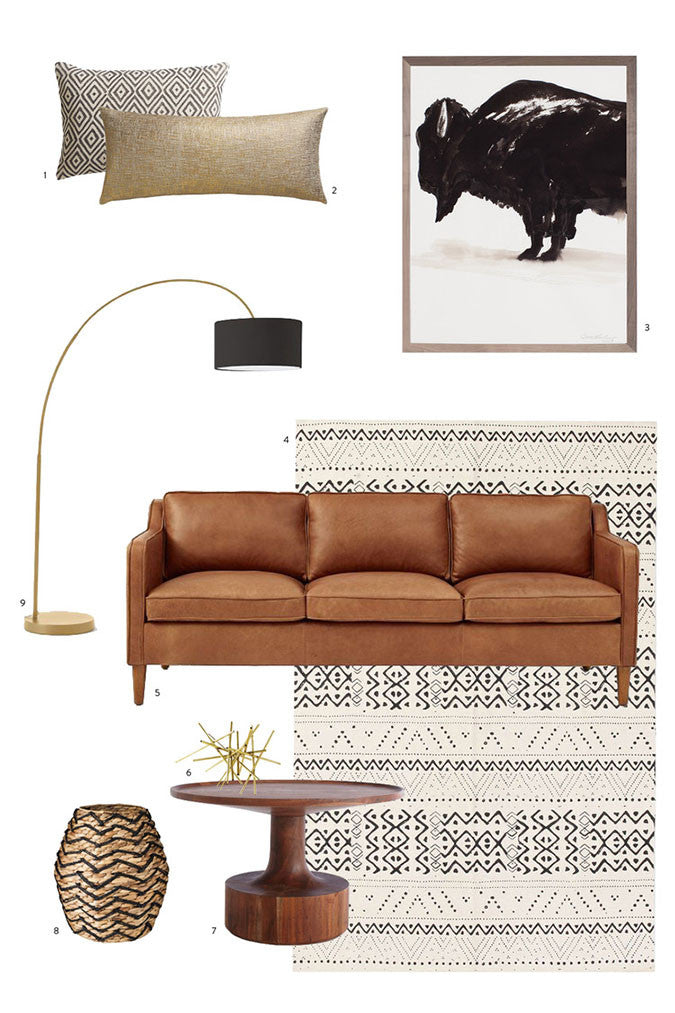 Neutral Tribal Living Room Decor