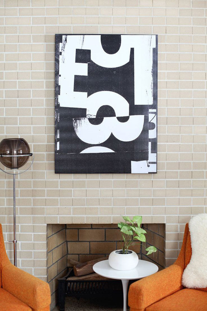 DIY Oversized Typographic Art from A Beautiful Mess