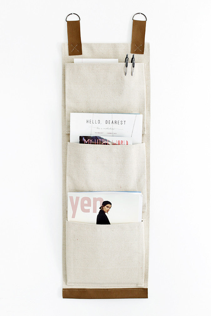 DIY Canvas Wall Pocket by The Merrythought