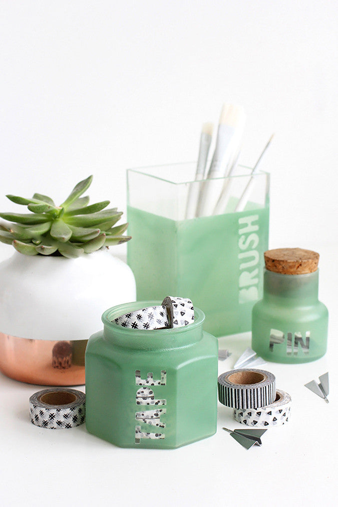 DIY Sea Glass Jar by I Spy DIY
