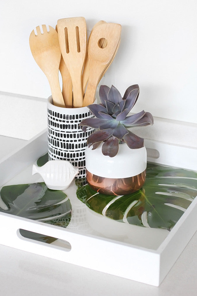 DIY Monstera Leaf Tray by I Spy DIY